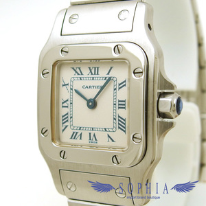 Cartier Santos Garve Watch Sm Blue Roman Wrist