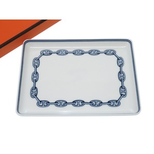 Hermes Schenn Dunkle Square Plate Tray Pottery Accessories 0369 Hermes