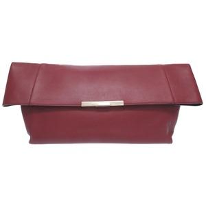 Celine Folded Over Leather Bordeaux Clutch Bag 0070 Celine