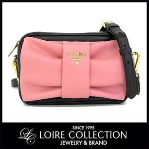 c668a5fcb7081 Prada Leather Ribbon Shoulder Bag Black Pink Diagonal Wearing Ladies Bp0166    Bg. Just In!