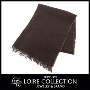 Hermes Hermes Large Format Shawl Stall Cashmere × Wool Brown *