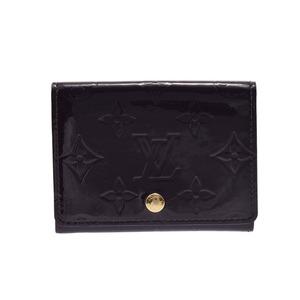 ルイ・ヴィトン(Louis Vuitton) 中古 ルイヴィトン ヴェルニ カードケース アンヴェロップ カルトドゥ ヴィジット アマラント M91409 LOUIS VUITTON