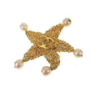 Chanel Rare Item Starfish Brooch Coco Mark 93c Gold
