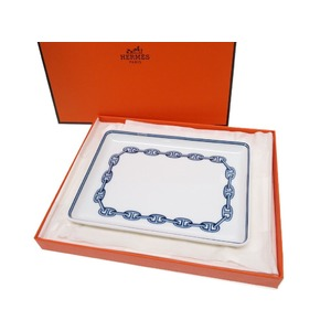 Hermes Schenn Dunk Tray Dishes Pottery Tableware White / Blue 0530