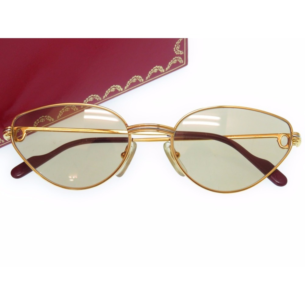 Cartier Trinity Sunglasses Eyewear Glasses Gold Frame 0248
