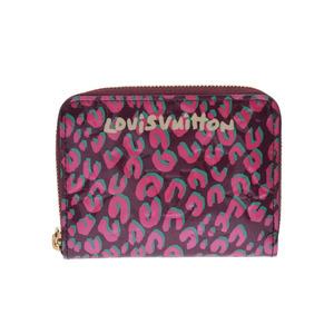 ルイ・ヴィトン(Louis Vuitton) 中古 ルイヴィトン ヴェルニ ジッピーコインパース レオパード ルージュフォーヴィスト M91485 新同 LOUIS VUITTON