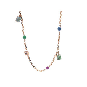 Used Louis Vuitton Long Necklace With Gp Multi Stone