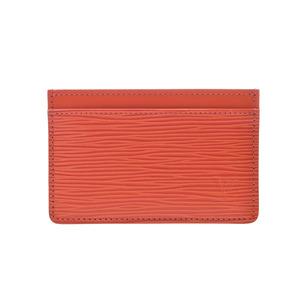 Louis Vuitton Epi  Card Case Orange M60721