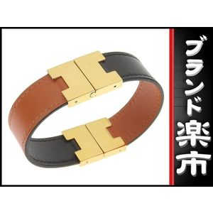 Hermes Hermes Lurie Bracelet Orange × Black