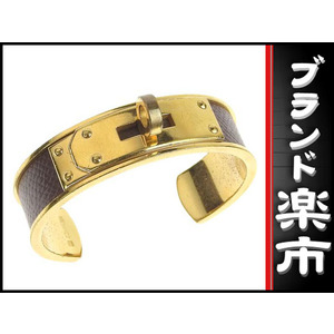 Hermes Hermes Kelly Bangle Gold × Brown