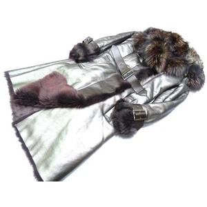 Salvatore Ferragamo Ferragamo Fox X Mouton Fur Long Coat 0311