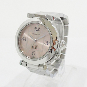 Cartier W31058m7 Pasha C Big Date At Ss Pink Dial Ladies Watch