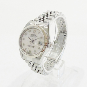 Rolex 79174 Datejust Pink Shell Face Ss × K18 Wg At P (Manufactured In 2000) Ladies Watch