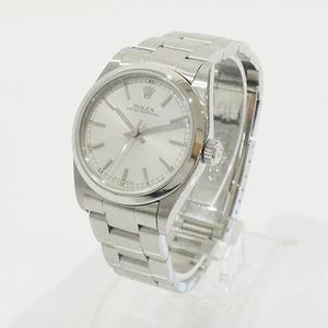 Rolex 77080 Oyster Perpetual Silver Dial Ss At A No. (Manufactured From 1998 To 1999) Boys Watches