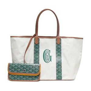 Goyard San Luis Pertuis Pm Green Tote Bag Reversible Women's