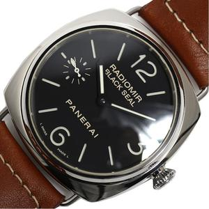 Panerai Radio Meal Black Seal Pam00183 Hand Winding Men's Watch Beauty Item
