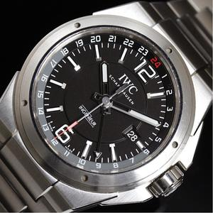 IWC インジュニア デュアルタイム  IW324402  自動巻き ブラック メンズ ウォッチ 腕時計