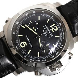 Panerai Luminor 1950 Ratlampante Pam00213 Automatic Black Chronograph Men's Wrist Watch 美 品