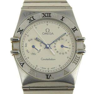 Omega Quartz Stainless Steel Men's Watch