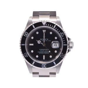 Used Rolex Submariner 16610 Ss Black Letter Board Automatic Carton Gala Mens Watch
