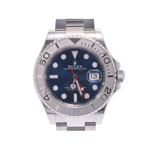 Used Rolex Yacht Master 116622 Blue Dial Pt / Ss Automatic Carton Gala Men's Wrist Watch