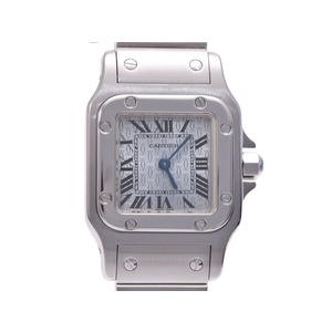 中古 カルティエ サントス ガルベ SM 2C文字盤 SS クオーツ レディース 腕時計 CARTIER