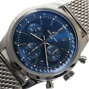 Breitling Transaction Ocean Chronograph Limited Ab0151 To 2000 Automatic Winding Blue Men's Wrist Watch