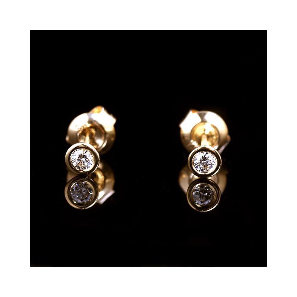 quality design 795f9 62f16 ティファニー TIFFANY&CO エルサ・ペレッティ ダイヤモンド バイザヤード ピアス K18YG レディース イヤリング ジュエリー 仕上げ済み  | elady.com