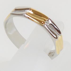 Celine Pt 850 × K18 (750) Yg Combination Ring