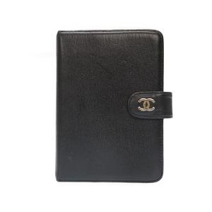 Chanel Kokomark Leather Notebook Cover Black 0434