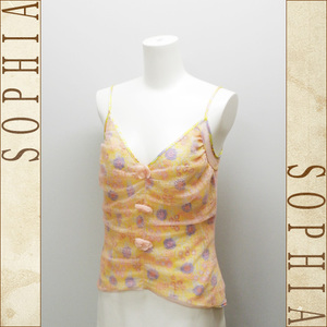 Chanel 03 Haisamar Camisole Yellow Flower Pink Lace Size Notation 40