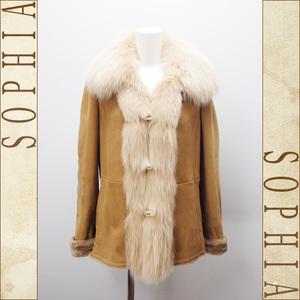 Max Mara Mouton Coat Size 42 Light Brown
