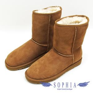 Agu Women's Classic Short Mouton Boots Brown 23cm Shoes