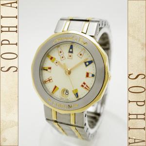 Corum Admirals Cup Ladies Quartz 18k Yellow Gold Xss Combination Watch