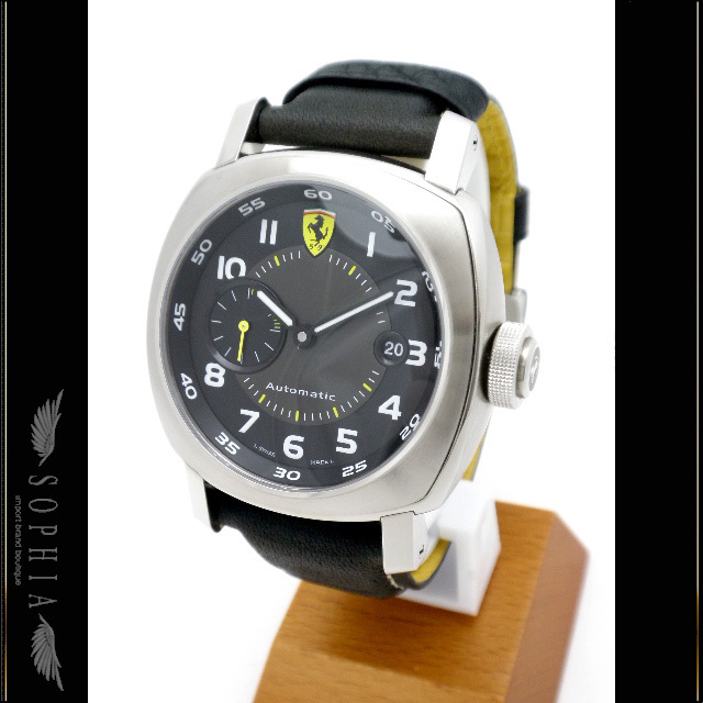 Panerai Ferrari Scuderia Domestic Regular Replacement Rubber Belt Ssx Black Leather Men's Automatic Winding Watch
