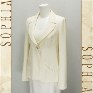 Chanel 11c One Button Tailored Jacket Off White Size Inscription 36