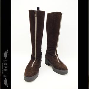 Fendi Suede Long Boots Brown Size 36 Shoes