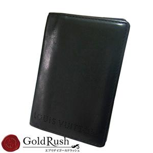 ルイ・ヴィトン(Louis Vuitton) LOUIS VUITTON ルイヴィトン シカゴ パスケース カードケース ブラック レザー【iw】【中古】