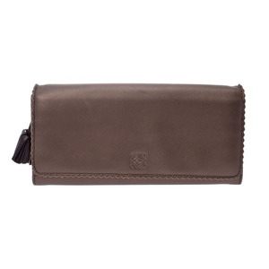 Loewe Women's Nappa Leather Long Wallet (bi-fold) Bronze