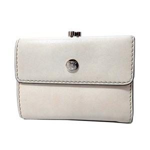 Celine Leather Pouch Folded Wallet Ivory 0337 Unisex