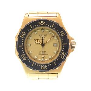 Tag Heuer 3000 Series 937.415 Gold Professional 200m Quartz Ladies Watch 0442