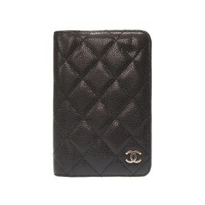 Chanel Caviar Skin Black Cocomark Notebook Cover Agenda 0233