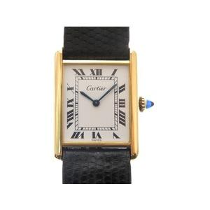 Cartier Must Tank Hand Winding Watch Gold Antique 0220