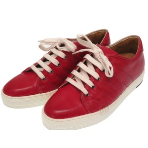 Berlutti Playfield Leather Red Sneakers Shoes 0221 Berluti Men's