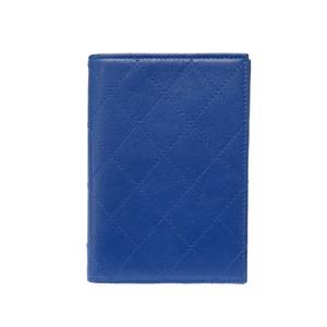 Chanel Matrasse Notebook Cover Agenda Accessory Blue 0193