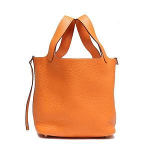 Hermes Picotin Rock Pm Toriyon Clemence Orange N Ladies Handbag Women's Free Shipping