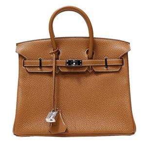 Hermes Birkin 25 Togo Gold □ K Minted Handbag Women's Free Shipping