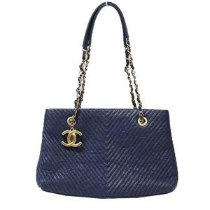 Chanel V Stitch Chain Shoulder Bag A 92089 Navy Women's Free Shipping