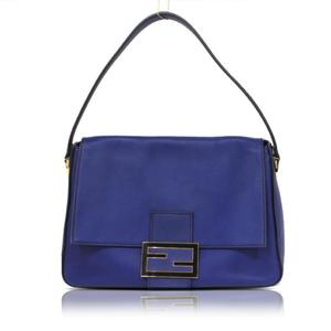 Fendi Big Mama Bucket Shoulder Bag 8br638 Blue Ladies Women's Free Shipping