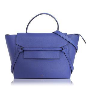 Celine Belt Bag 176103 Blue Handbag Women's Beauty Item Purse Free Shipping